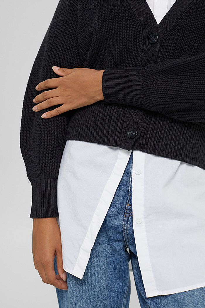Fashion Cardigan, BLACK, detail image number 2