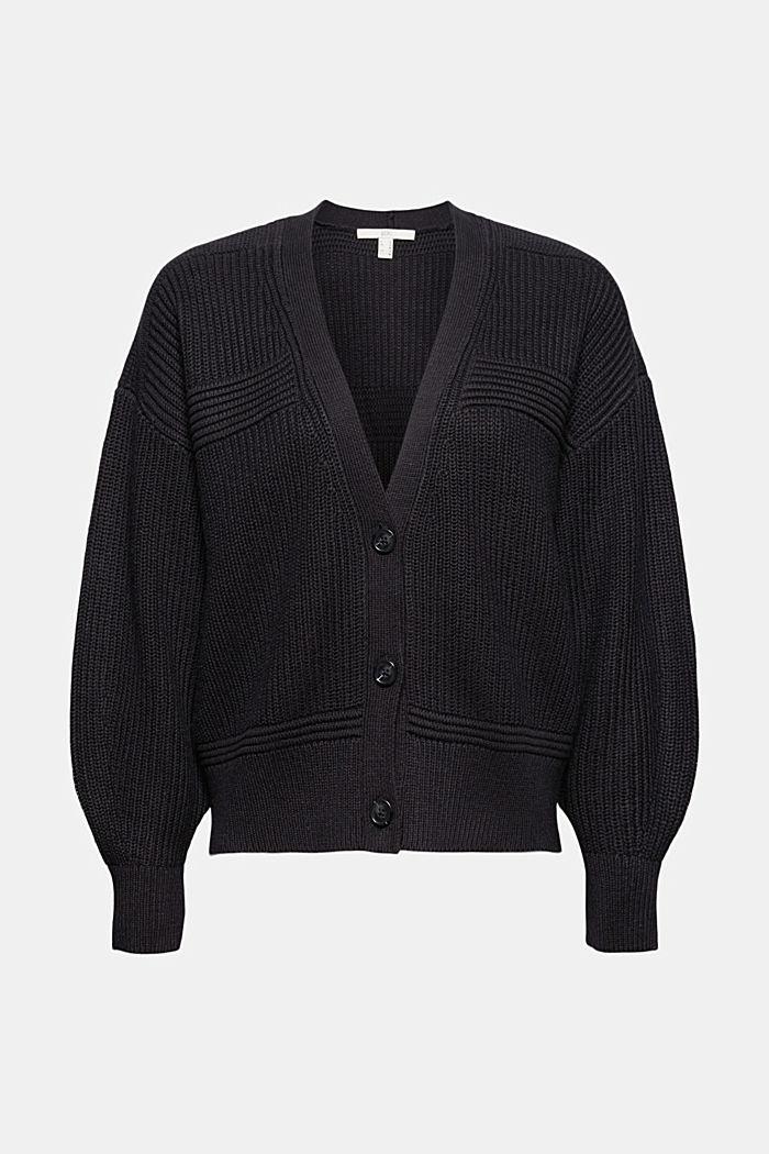 Fashion Cardigan, BLACK, detail image number 6