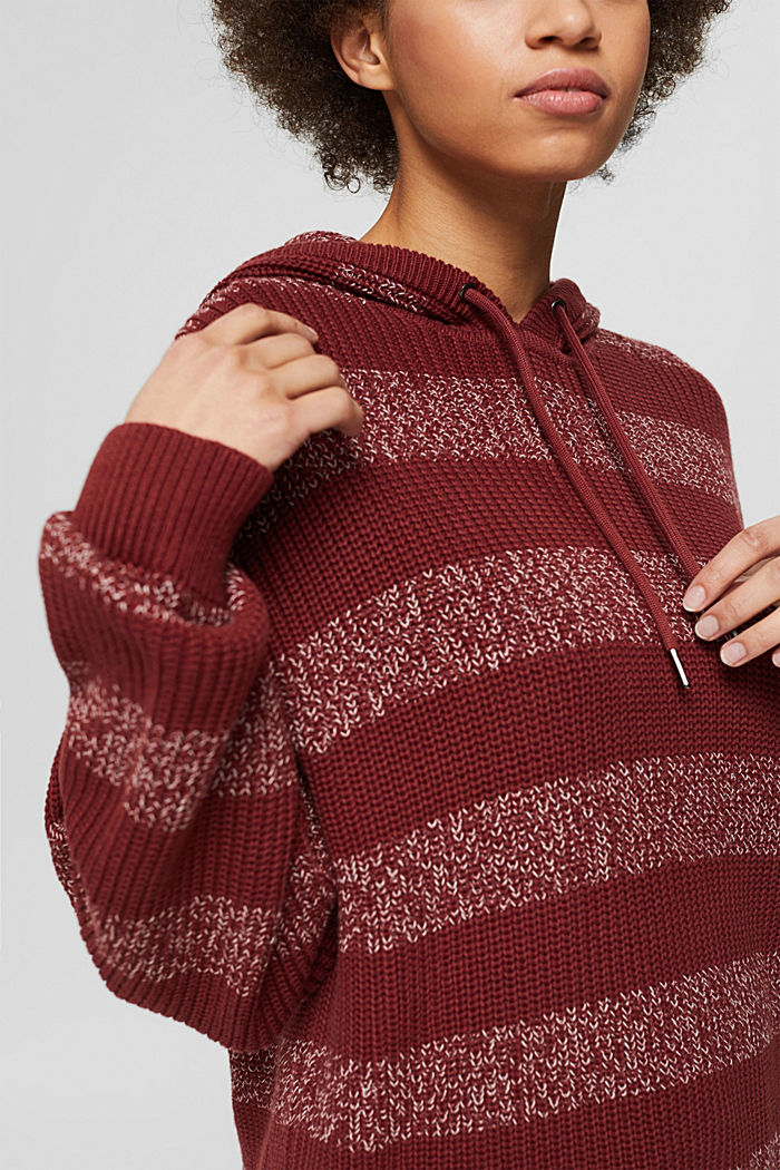 Sweaters, GARNET RED, detail image number 2