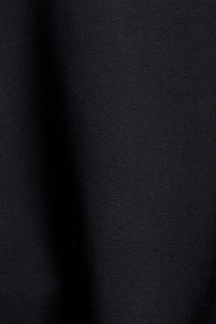 Sweatshirt mit Stehkragen, Bio-Baumwoll-Mix, BLACK, detail image number 4