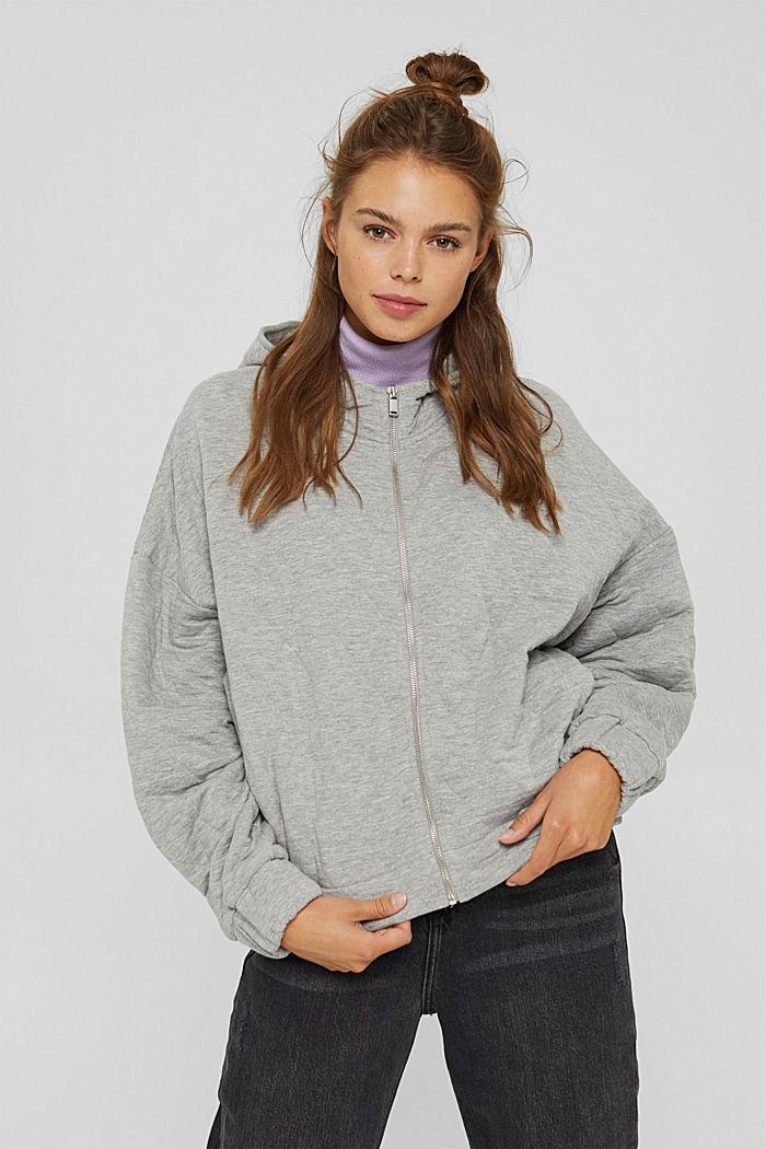 Sweatshirts cardigan, MEDIUM GREY, detail image number 0
