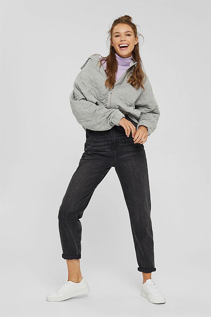 Sweatshirts cardigan, MEDIUM GREY, detail image number 8