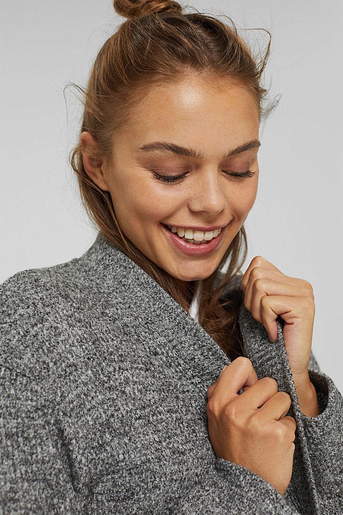 Sweatshirts cardigan, ANTHRACITE, detail image number 5