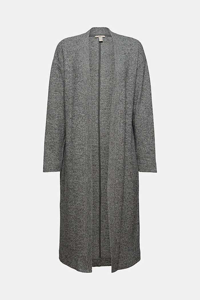 Sweatshirts cardigan, ANTHRACITE, detail image number 6