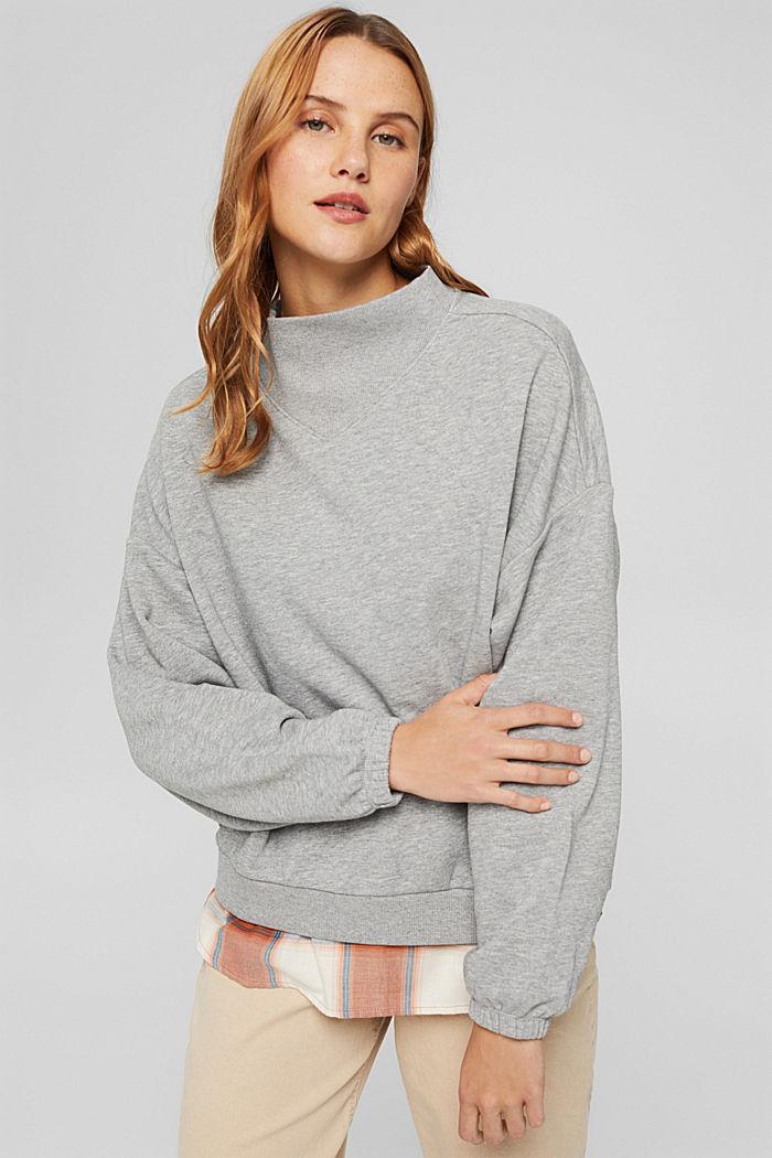 Sweatshirt mit Stehkragen und Raglanärmeln, MEDIUM GREY, detail image number 0
