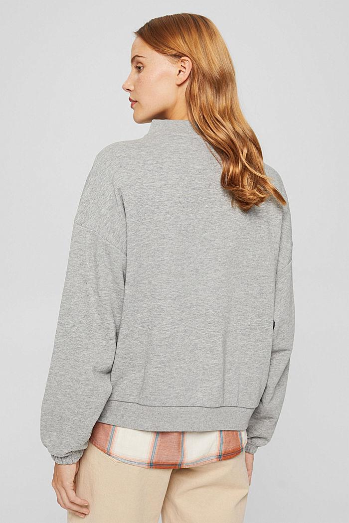 Sweatshirt mit Stehkragen und Raglanärmeln, MEDIUM GREY, detail image number 3