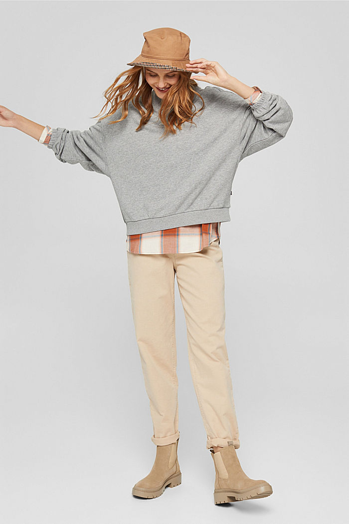Sweatshirt mit Stehkragen und Raglanärmeln