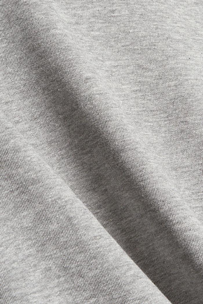 Sweatshirt mit Stehkragen und Raglanärmeln, MEDIUM GREY, detail image number 4
