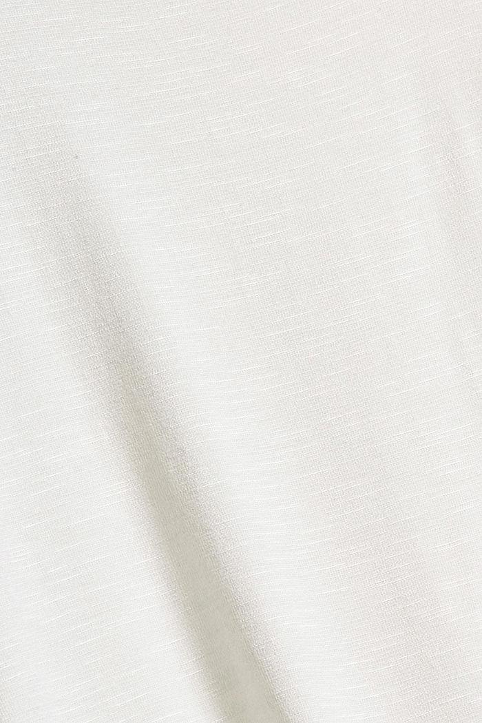 Gesmoktes Longsleeve mit LENZING™ ECOVERO™., OFF WHITE, detail image number 4