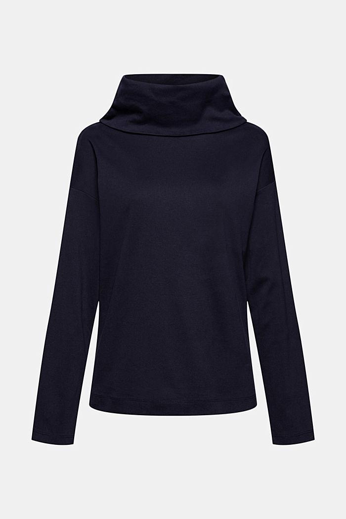 Tričko s dlouhým rukávem a rolákovým límcem, ze 100% bio bavlny