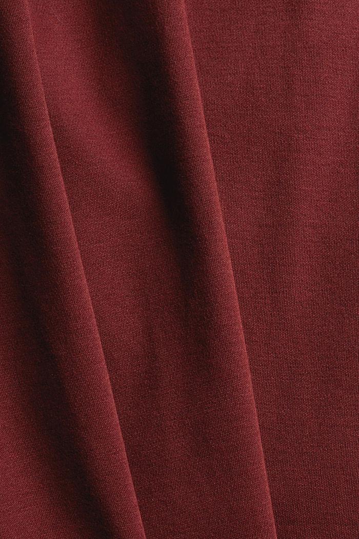 Rollkragen-Longsleeve aus 100% Bio-Baumwolle, GARNET RED, detail image number 4