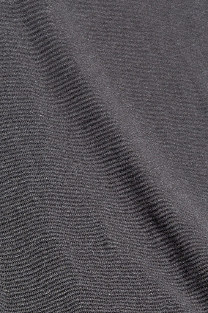 Longsleeve aus Bio-Baumwoll-Mix, ANTHRACITE, detail image number 4