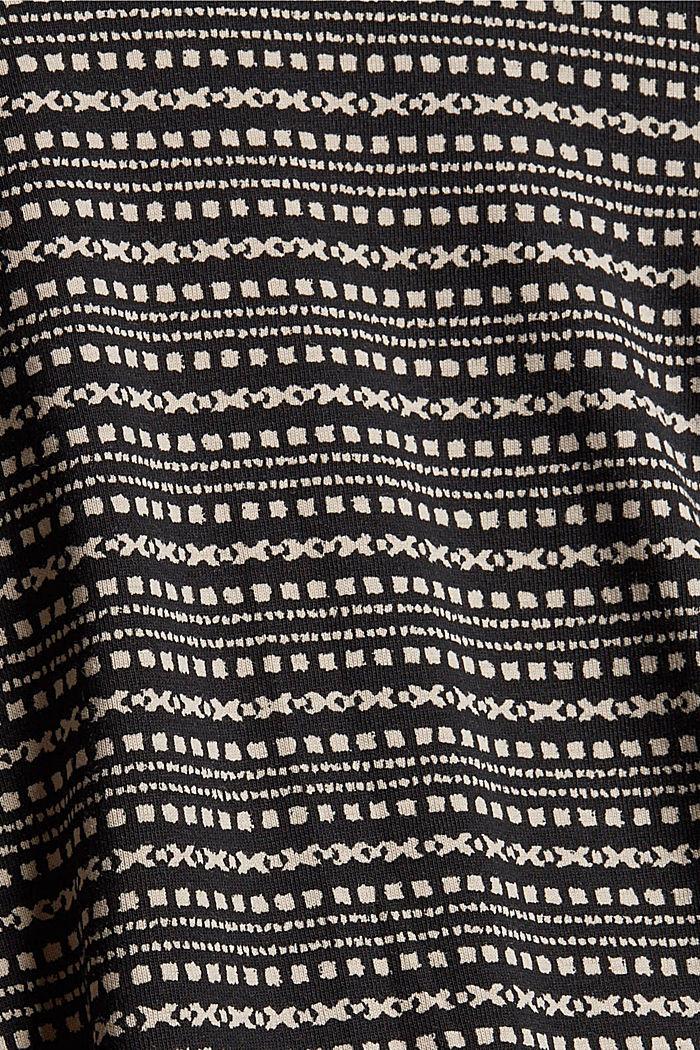 Longsleeve met print van organic cotton, BLACK, detail image number 4