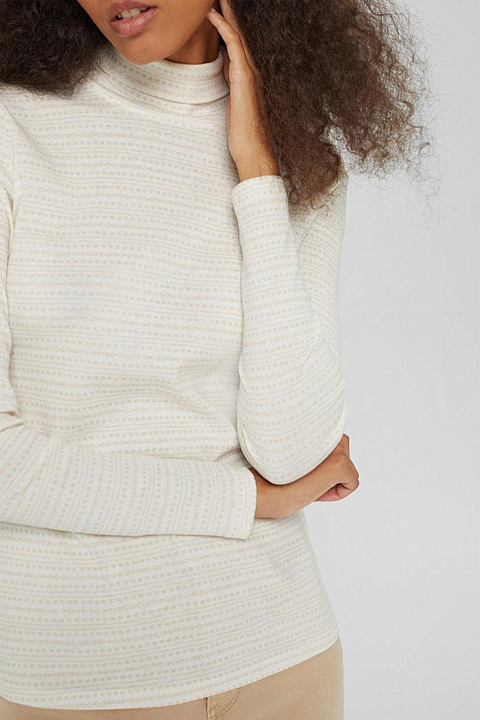 Longsleeve met print van organic cotton, OFF WHITE, detail image number 2