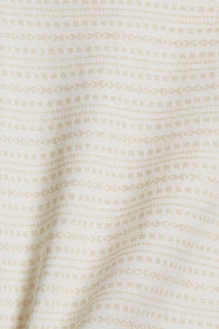 Longsleeve met print van organic cotton, OFF WHITE, detail image number 4