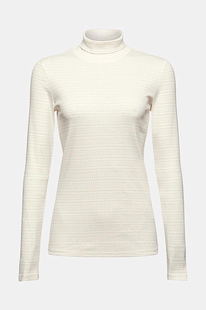 Longsleeve met print van organic cotton, OFF WHITE, detail image number 9