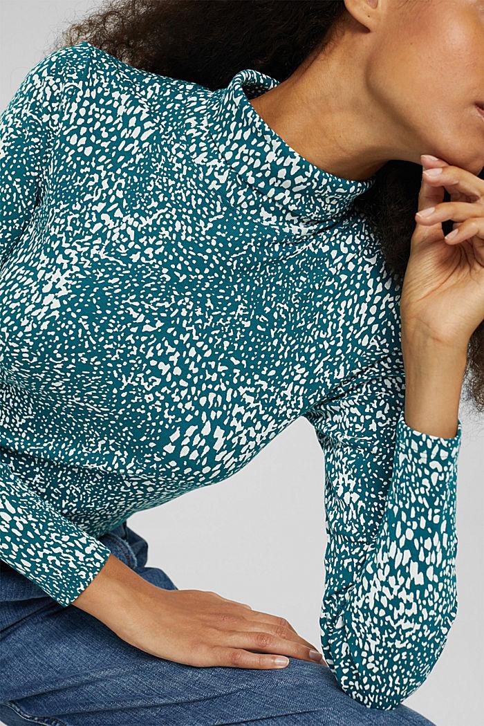 Longsleeve mit Print aus Organic Cotton, EMERALD GREEN, detail image number 2