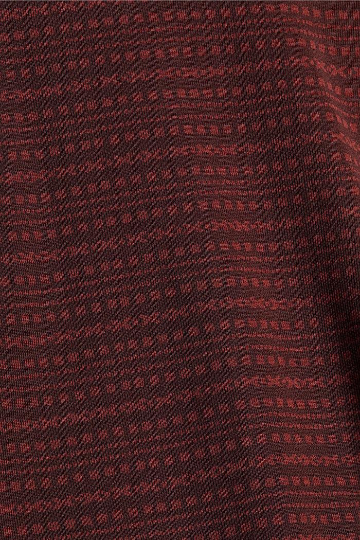 Longsleeve mit Print aus Organic Cotton, GARNET RED, detail image number 4