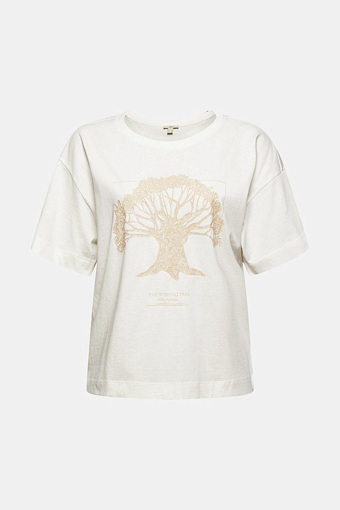 T-shirt met print, van biologisch katoen, OFF WHITE, detail image number 5