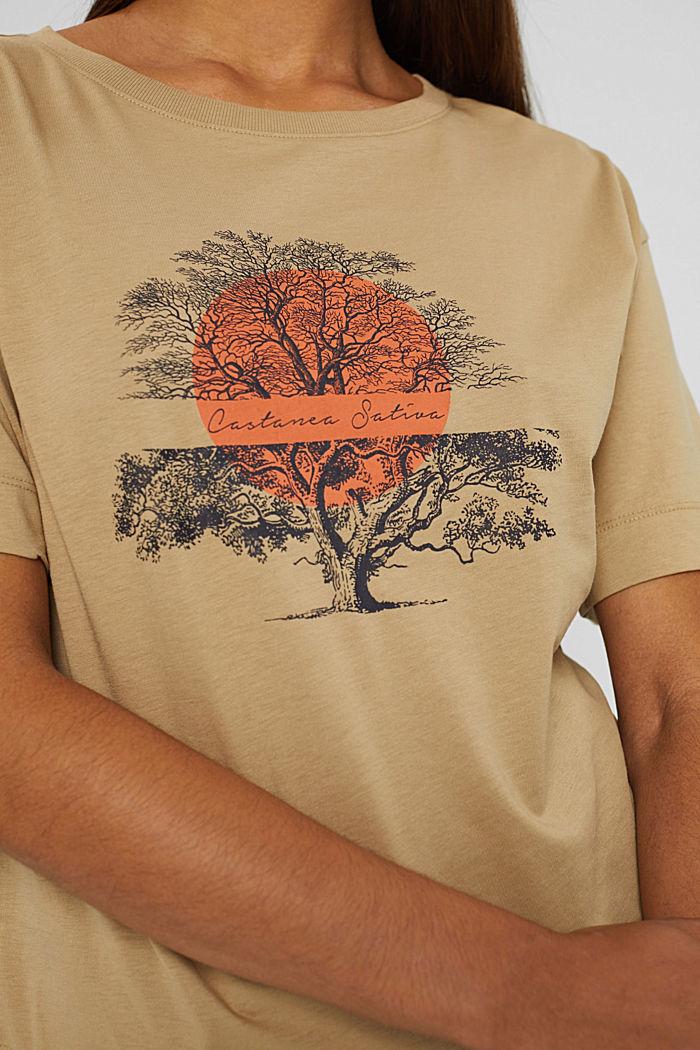 T-Shirt mit Print aus Bio-Baumwolle, BEIGE, detail image number 2
