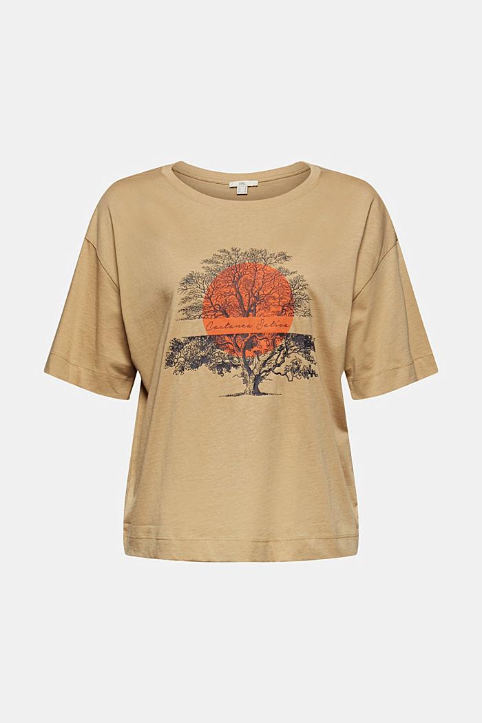 T-Shirt mit Print aus Bio-Baumwolle, BEIGE, detail image number 6
