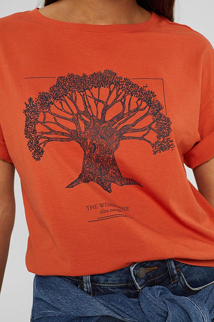 T-Shirt mit Print aus Bio-Baumwolle, GOLDEN ORANGE, detail image number 2