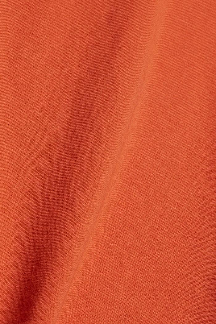 T-Shirt mit Print aus Bio-Baumwolle, GOLDEN ORANGE, detail image number 4
