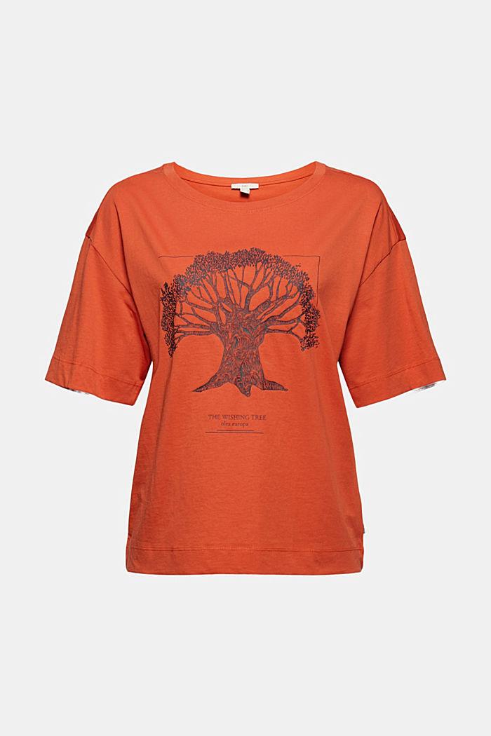 T-shirt met print, van biologisch katoen