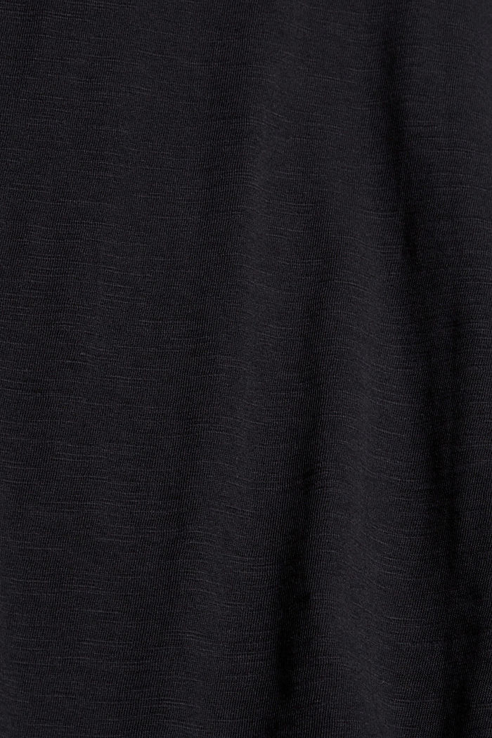 Camiseta de manga larga con cuello redondo en 100% algodón ecológico, BLACK, detail image number 4