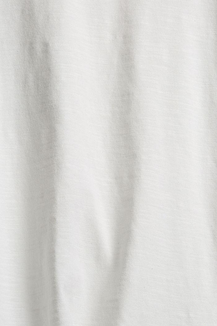 Camiseta de manga larga con cuello redondo en 100% algodón ecológico, OFF WHITE, detail image number 4