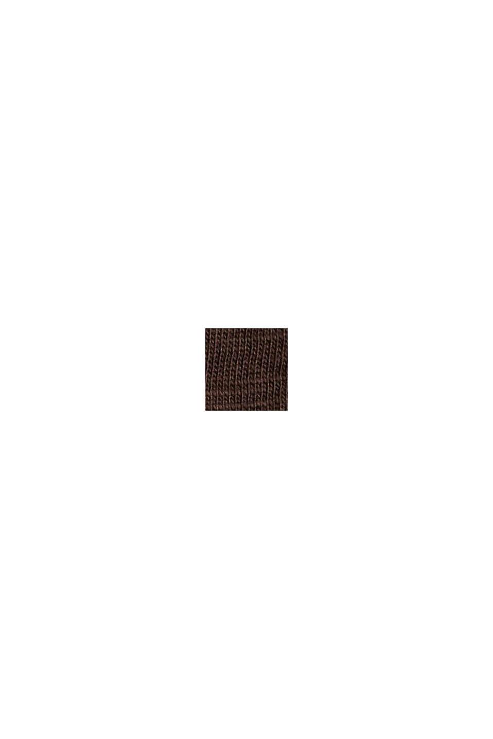 Camiseta de manga larga con cuello redondo en 100% algodón ecológico, BROWN, swatch