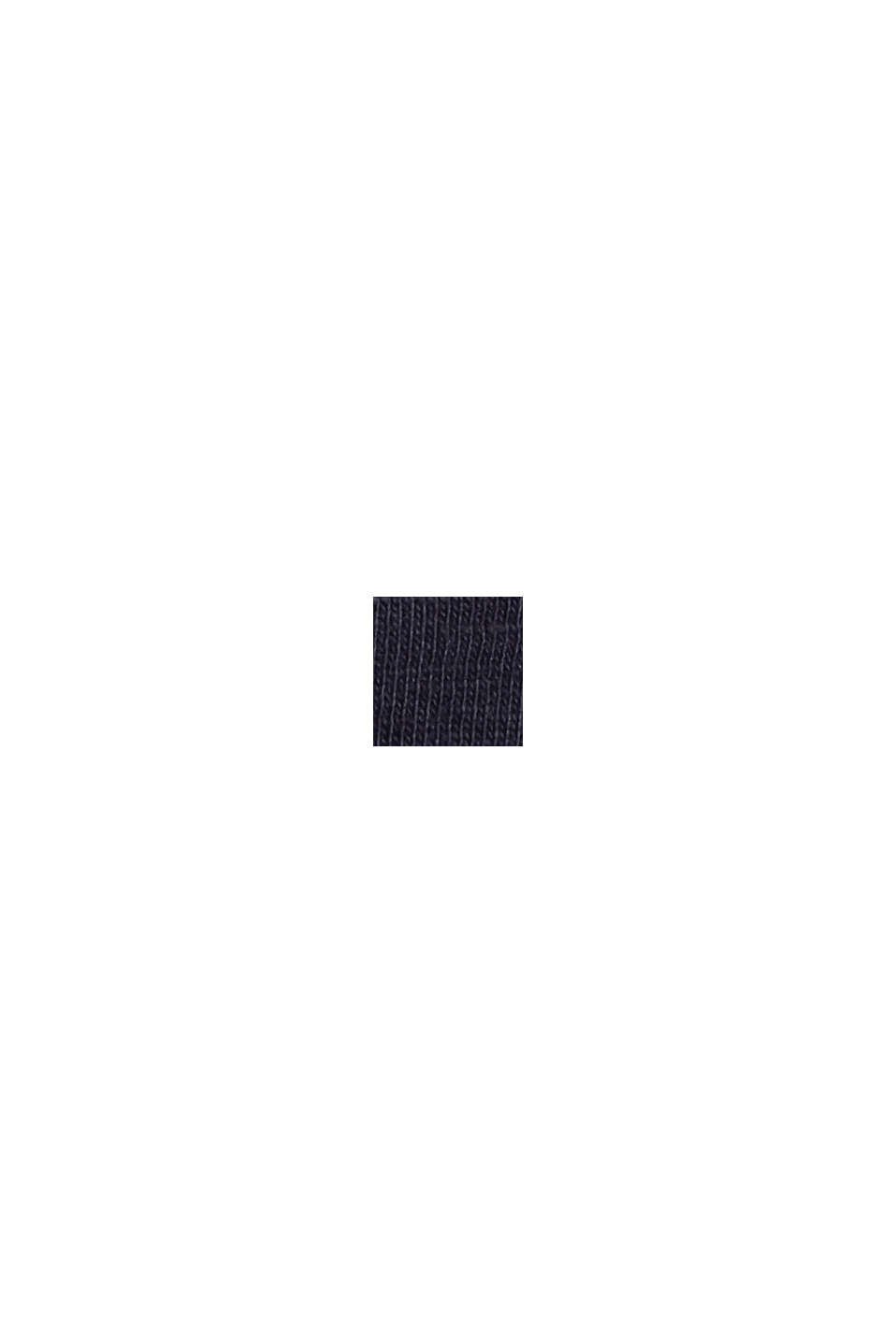 Camiseta de manga larga con cuello redondo en 100% algodón ecológico, NAVY, swatch