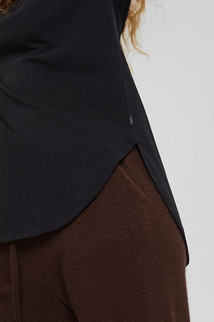 Longsleeve van 100% organic cotton, BLACK, detail image number 2