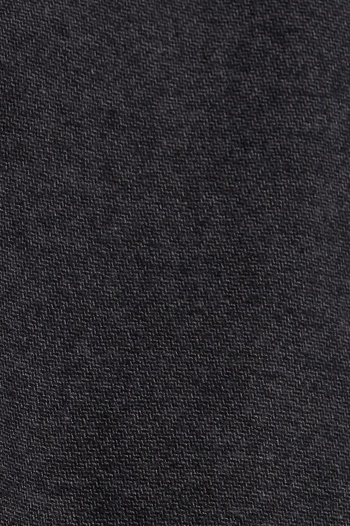 Flanell-Hose mit Gummibund, Organic Cotton, DARK GREY, detail image number 4