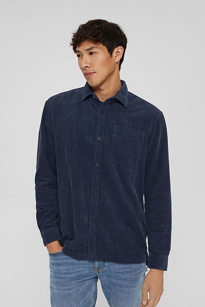 Overhemd van corduroy, 100% katoen, DARK BLUE, detail image number 0