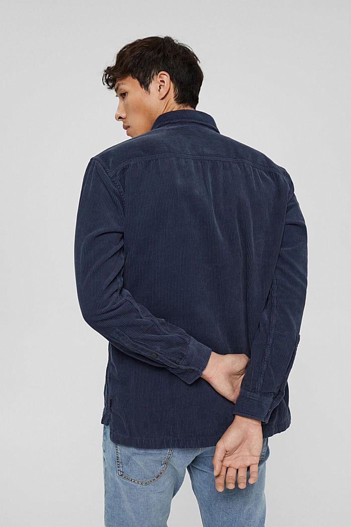 Overhemd van corduroy, 100% katoen, DARK BLUE, detail image number 3