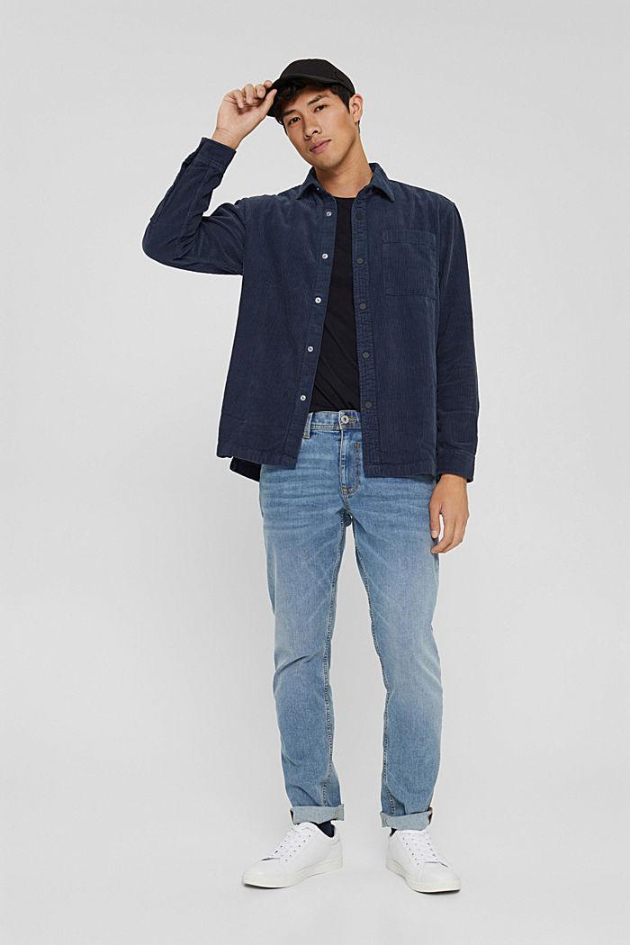 Overhemd van corduroy, 100% katoen, DARK BLUE, detail image number 1