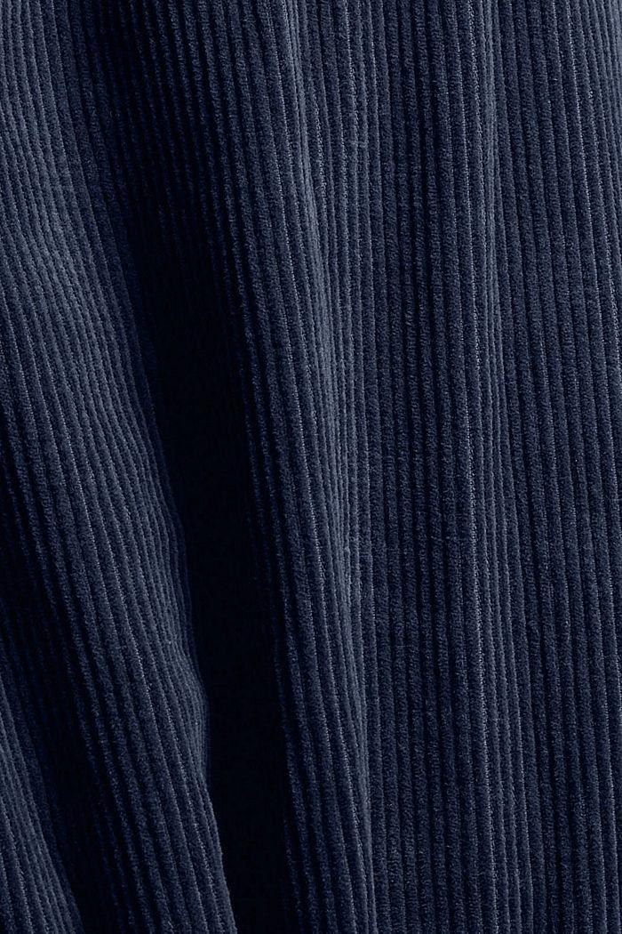 Overhemd van corduroy, 100% katoen, DARK BLUE, detail image number 4