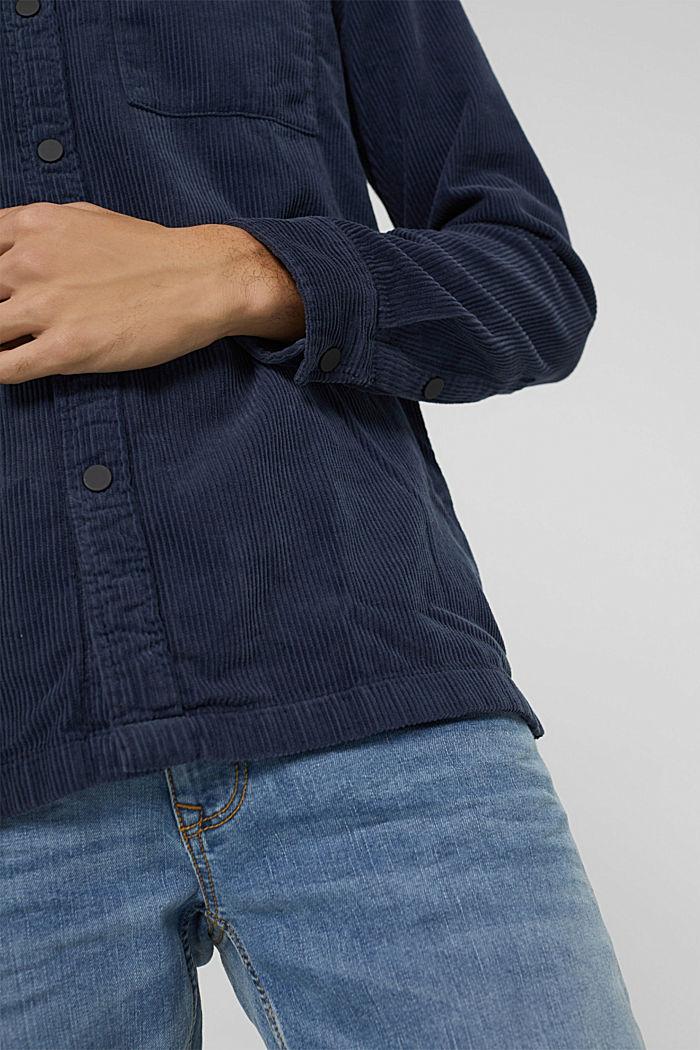 Overhemd van corduroy, 100% katoen, DARK BLUE, detail image number 5