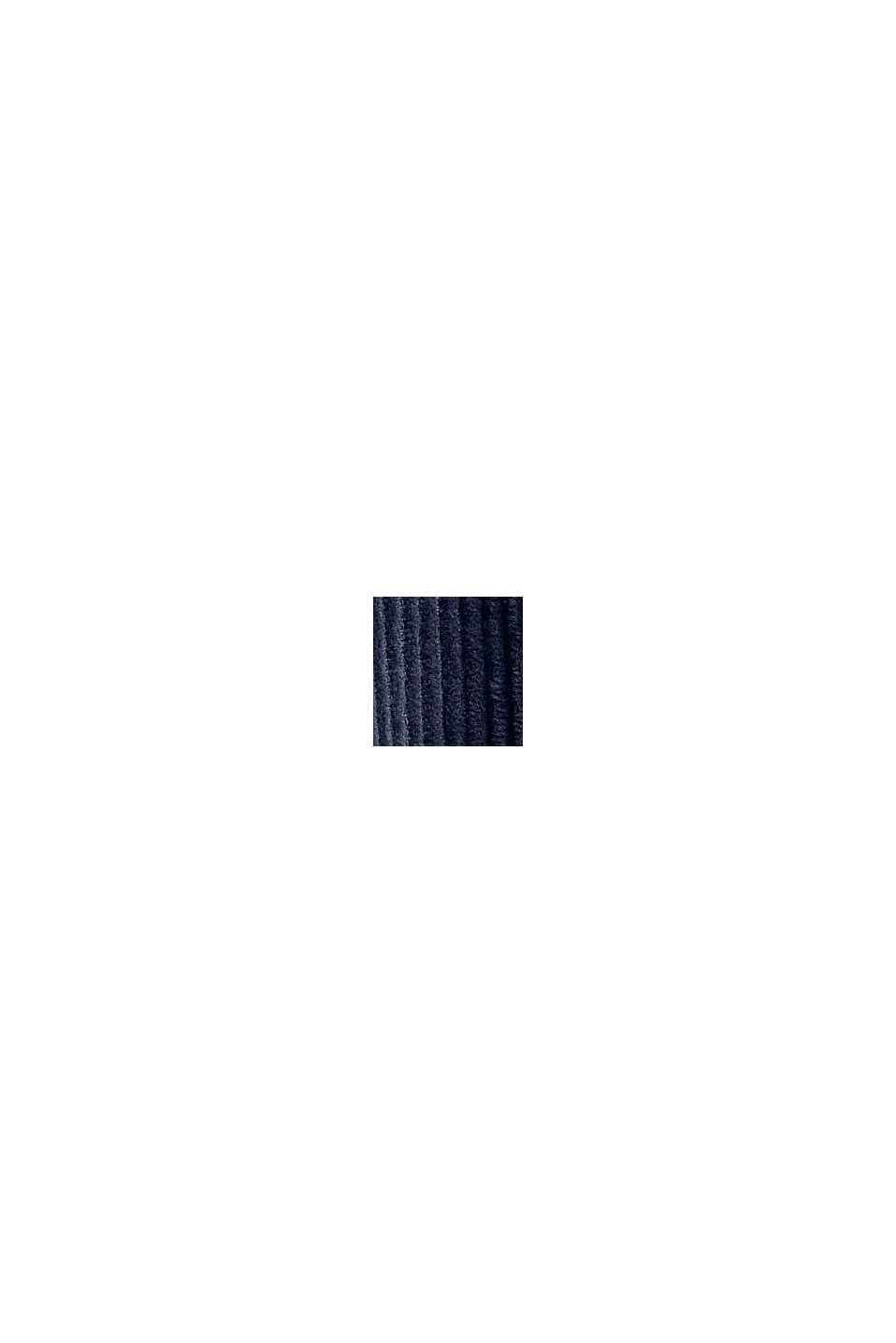 Camicia di velluto, 100% cotone, DARK BLUE, swatch