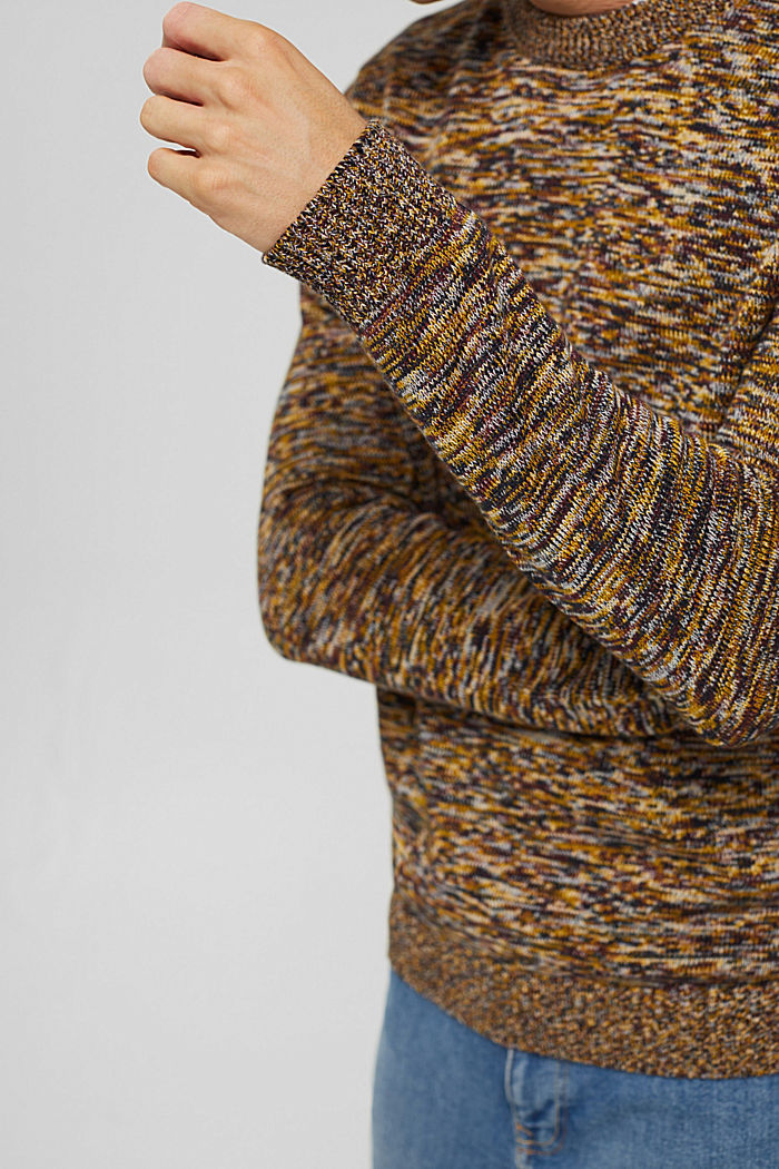 Melierter Pullover aus 100% Organic Cotton, YELLOW, detail image number 2