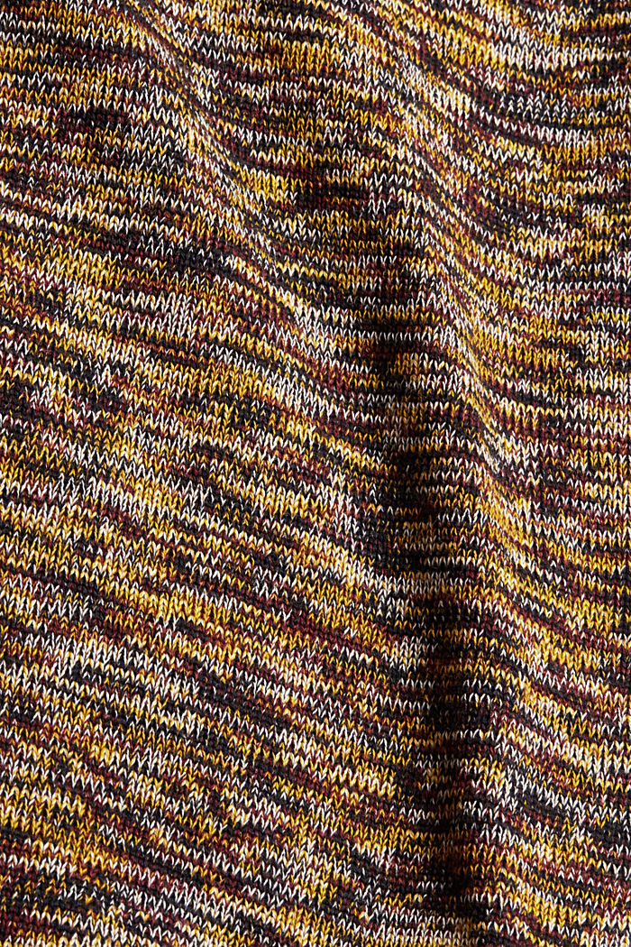Melierter Pullover aus 100% Organic Cotton, YELLOW, detail image number 4