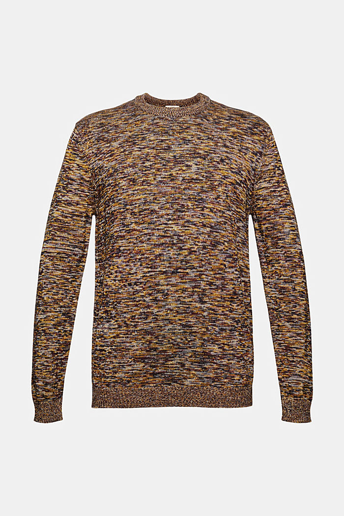 Melierter Pullover aus 100% Organic Cotton, YELLOW, detail image number 7