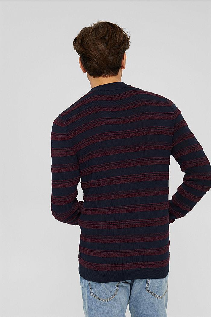 Struktur-Pullover aus 100% Organic Cotton, NAVY, detail image number 3