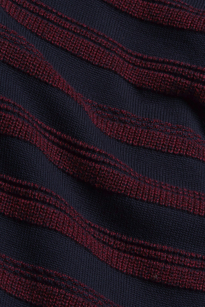 Struktur-Pullover aus 100% Organic Cotton, NAVY, detail image number 4