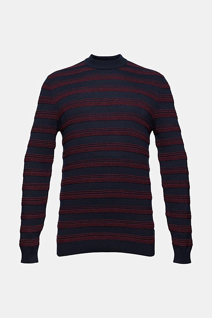 Struktur-Pullover aus 100% Organic Cotton, NAVY, detail image number 5