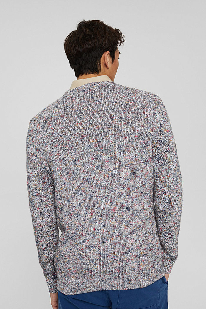 Multicolor Pullover aus 100% Baumwolle, OFF WHITE, detail image number 3
