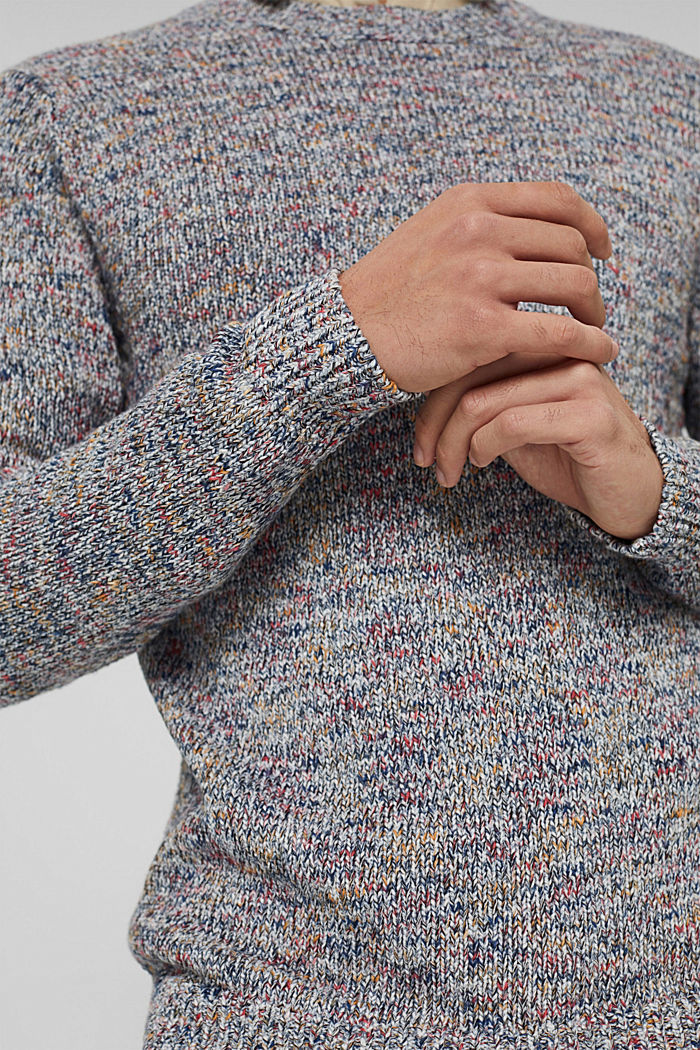 Multicolor Pullover aus 100% Baumwolle, OFF WHITE, detail image number 2