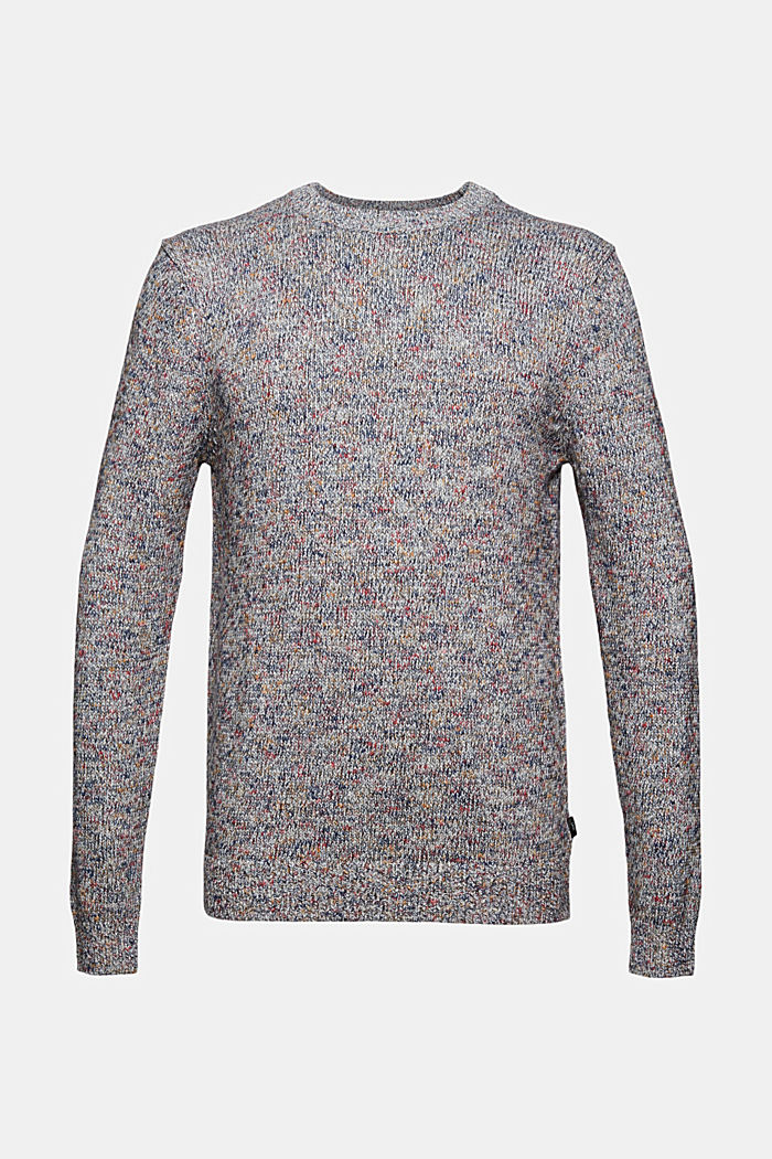 Multicolor Pullover aus 100% Baumwolle, OFF WHITE, detail image number 5