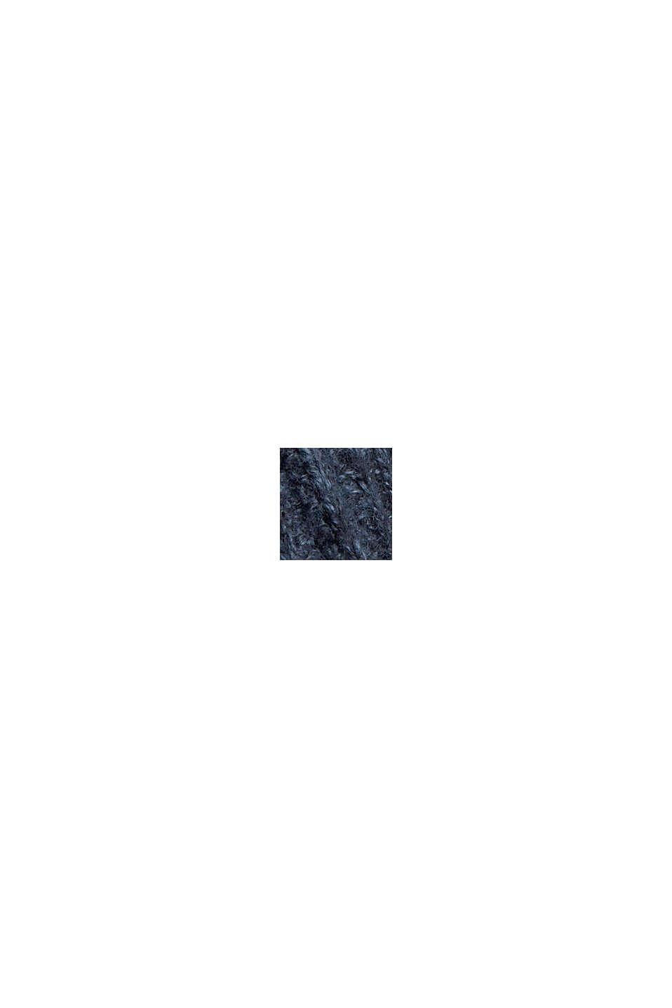Ribgebreide trui van een mix met biologisch katoen, NAVY, swatch